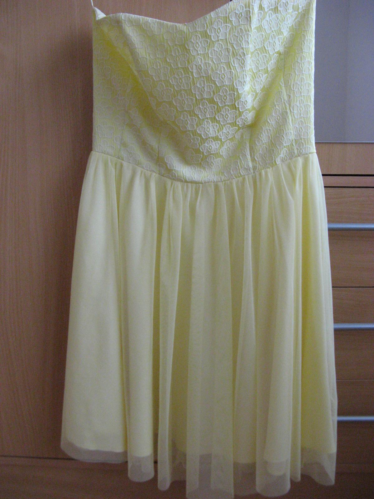 Krátke spoločenské šaty žlté - Obrázok č. 4