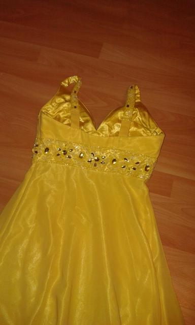Žlté spoločenské šaty - Obrázok č. 2