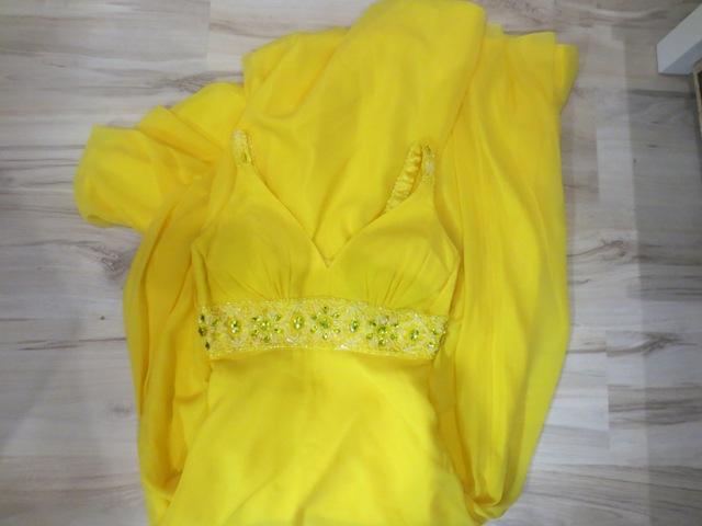 Žlté spoločenské šaty - Obrázok č. 1