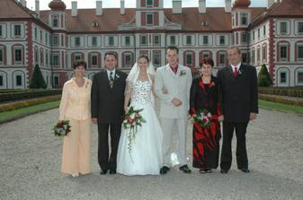 s rodiči na zámku