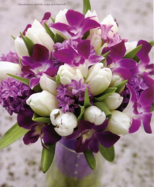 Z+M - namiesto tulipánov biele ruže a lila frézie