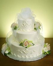 svatební dort podle mých představ :-)