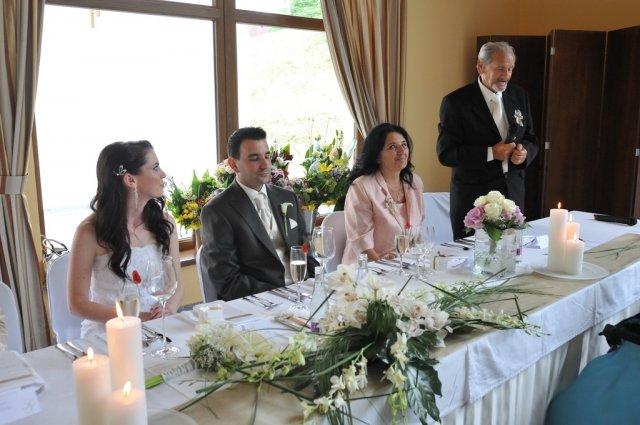 Svadba nebeská - hlavná tabuľa