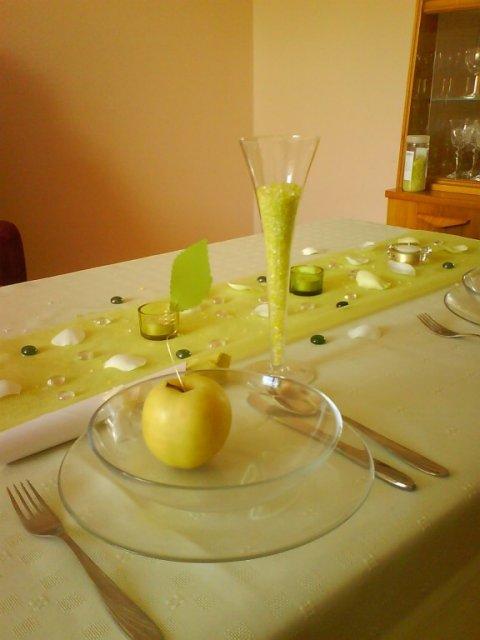 Zacali sme pripravu - domaca skuska svadobneho prestierania :)