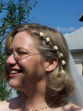 Detail svadobného účesu