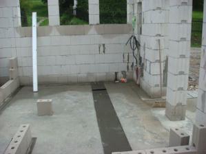 budoucí koupelna a technická místnost