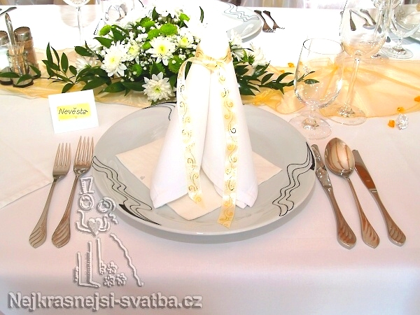 Nejkrásnější svatba - Látkové ubrousky z půjčovny