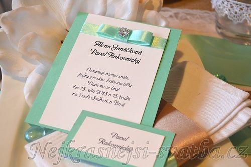 Nejkrásnější svatba - Mint svatební oznámení