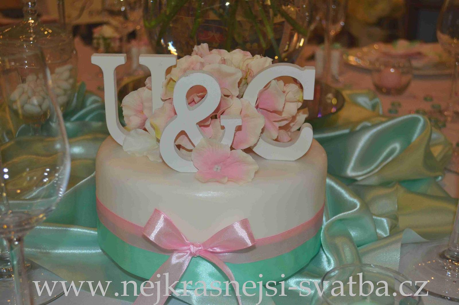 Nejkrásnější svatba - Mint a růžová výzdoba na kulatých stolech