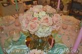 Svatební kytice na stůl