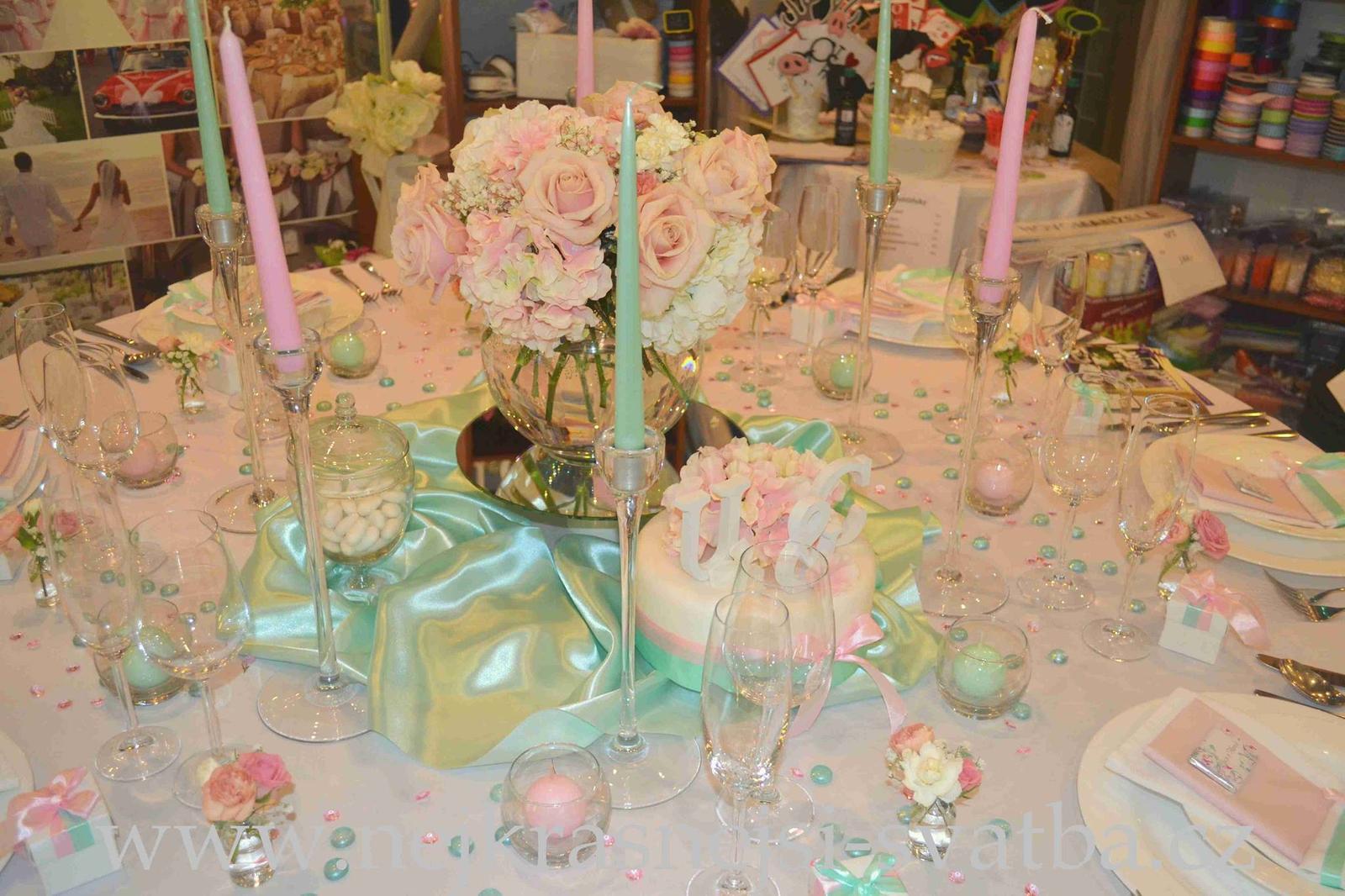 Nejkrásnější svatba - Výzdoba na svatebním veletrhu OC Futurum 2015
