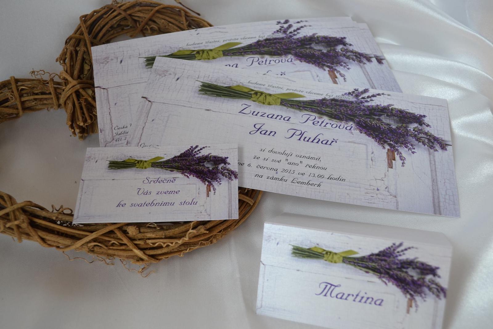 Nejkrásnější svatba - Svatební oznámení a tiskoviny tyhle vznikly na míru a přání nevěsty...