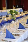 Svatební výzdoba a květiny na hotelu Myslivna