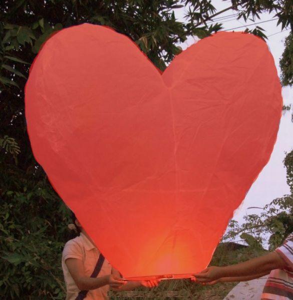 Nejkrásnější svatba - Lampion štěstí XXL ve tvaru srdce