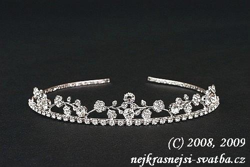 Nejkrásnější svatba - Štrasové čelenky a korunky