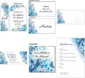 Svatební kolekce Azurová Motýlci,