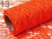 Krajka dekorační oranžová ,