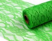 Krajková stuha - zelená 15 cm,