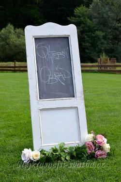 Svatební cedule vintage - půjčovna - Obrázek č. 1