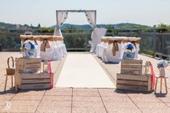 Svatební dřevěná slavobrána luxury - půjčovna,