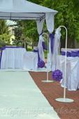 Svatební květinový stojan - hák  - půjčovna,