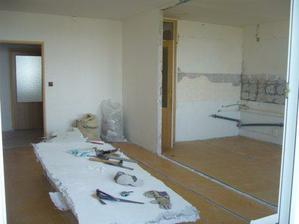 podlahy a preicka rozobrane