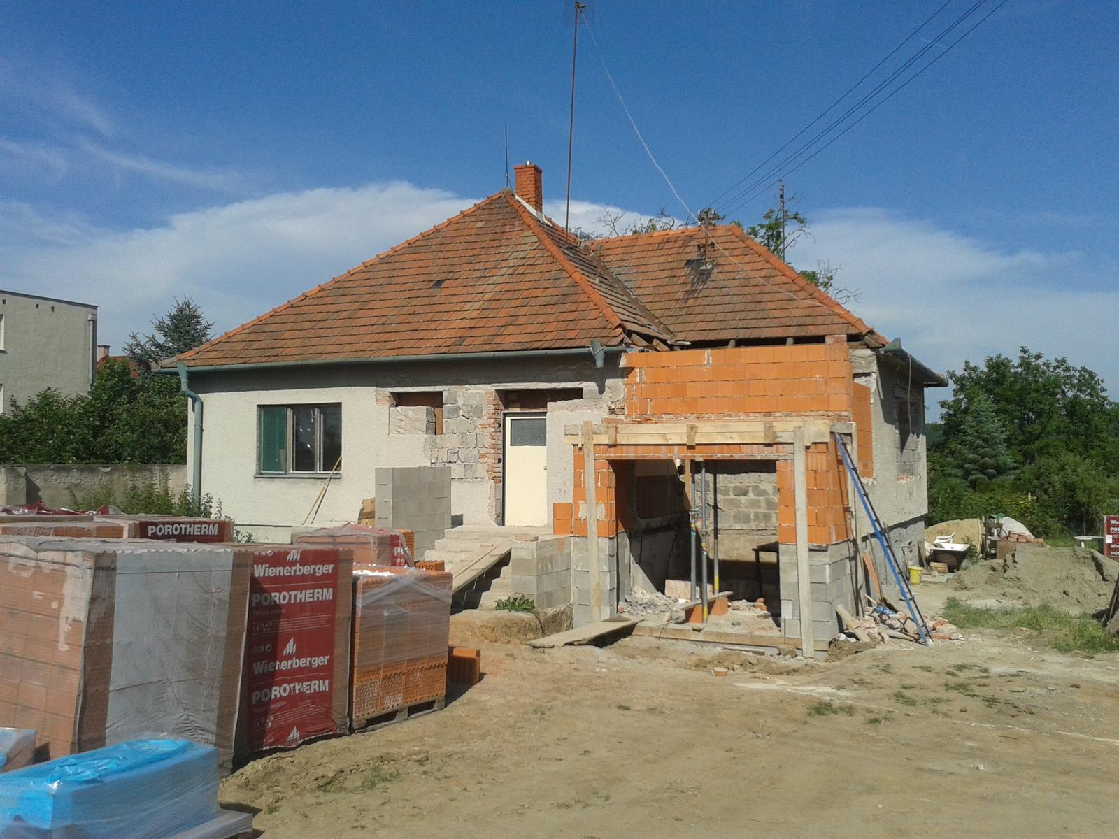 Prestavba RD - Pristavenie novej garaze