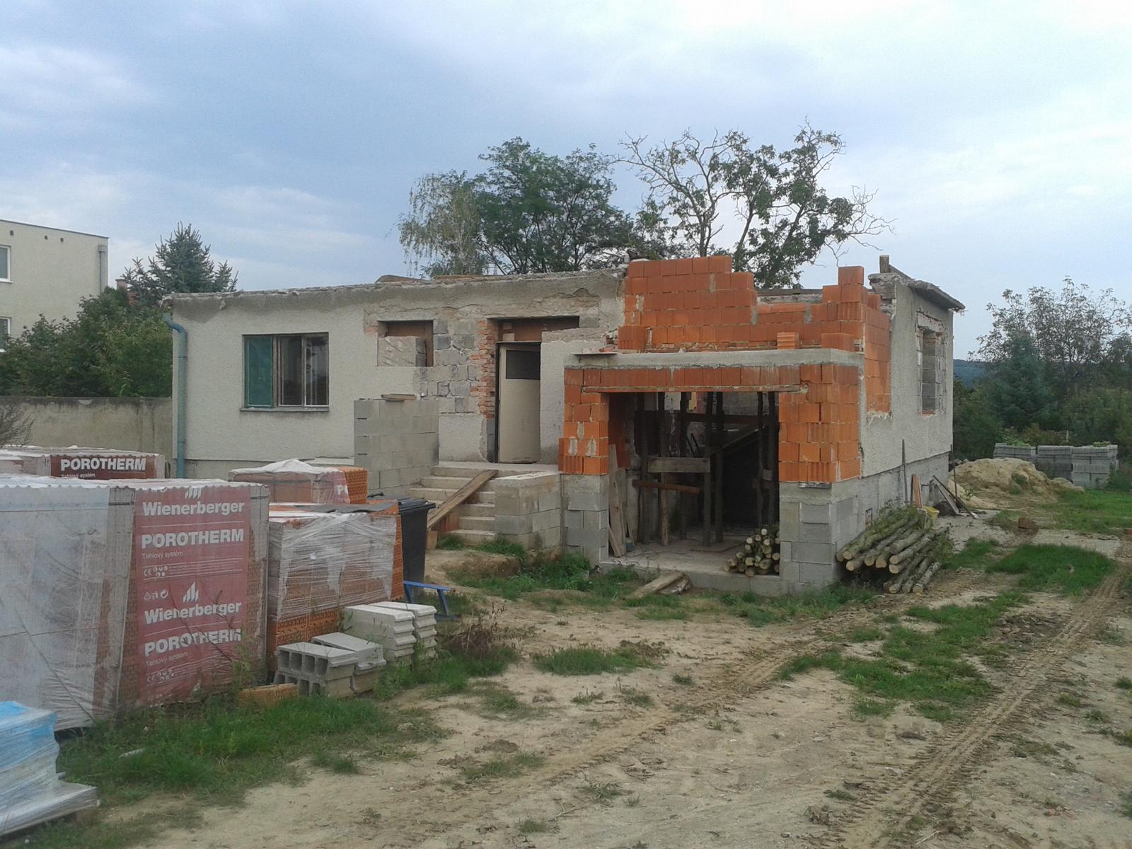 Prestavba RD - Dom bez strechy