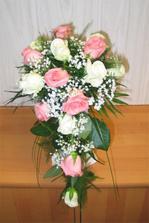 Nebo taková bude moje svatební kytička + bílé tulipány