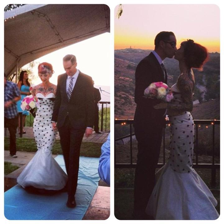 Alternativni svatby - Moje oblibena pinupka a hvezda pinup sveta se vcera vdala :)