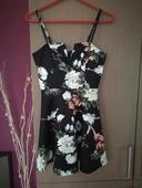 Luxusní šaty s květinovým vzorem, 40