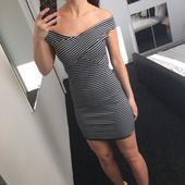 Pruhované pružné šaty, 40