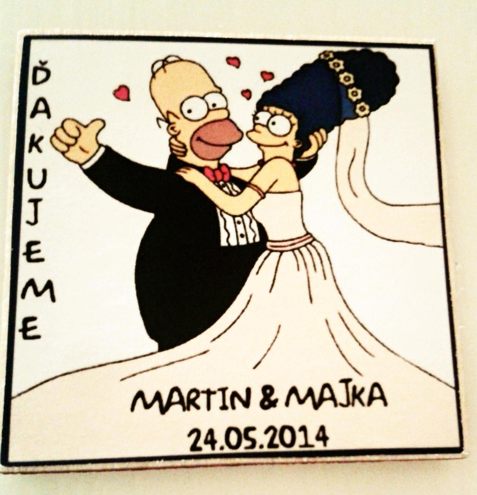 ♥ M{{_AND_}}M = NAŠA MÁJOVÁ ROMANCA  ♥ - Naše svadobné magnetky ako darčeky pre hostí nám vyrobila Elena Masárová z Bánoviec, elenamasar@gmail.com, FB: Hand Made Elena