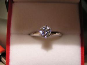 moj zasnubny prsten...0.75 karat diamant