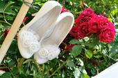 Svadobné topánočky s kvetmi, 39