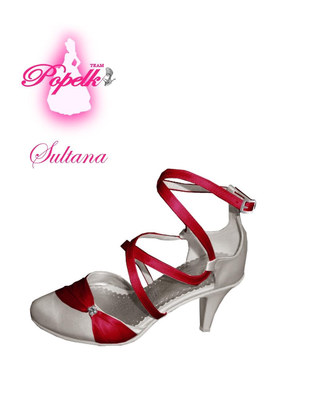 Svadobné topánky s úpravou na želanie - inšpirácie bordó, hnědá, čokoládová - Obrázok č. 9