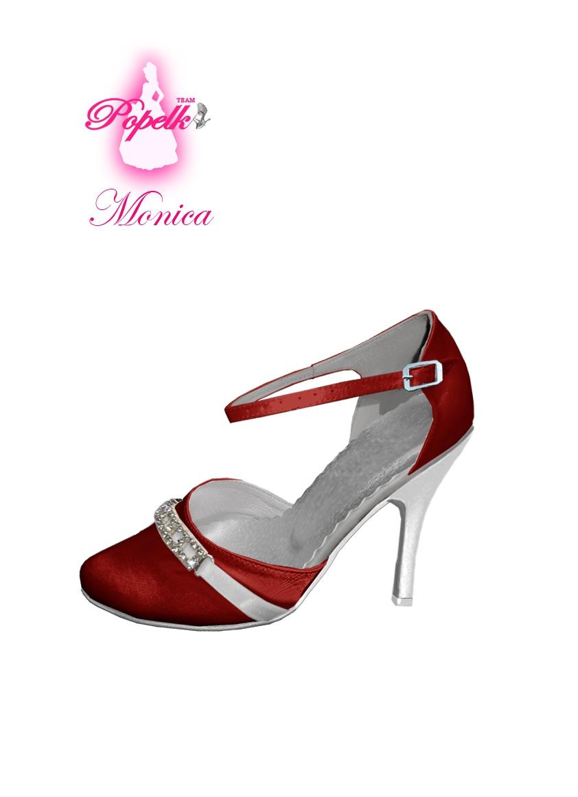 Svadobné topánky s úpravou na želanie - inšpirácie bordó, hnědá, čokoládová - Obrázok č. 10