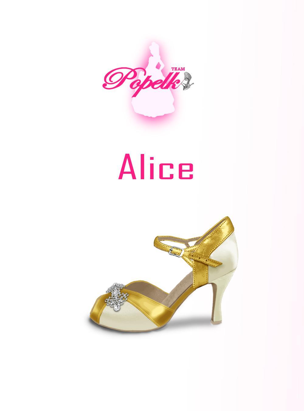 Svadobné topánky navrhni a uprav si ich podľa seba - inšpirácie zlatá - model Alice