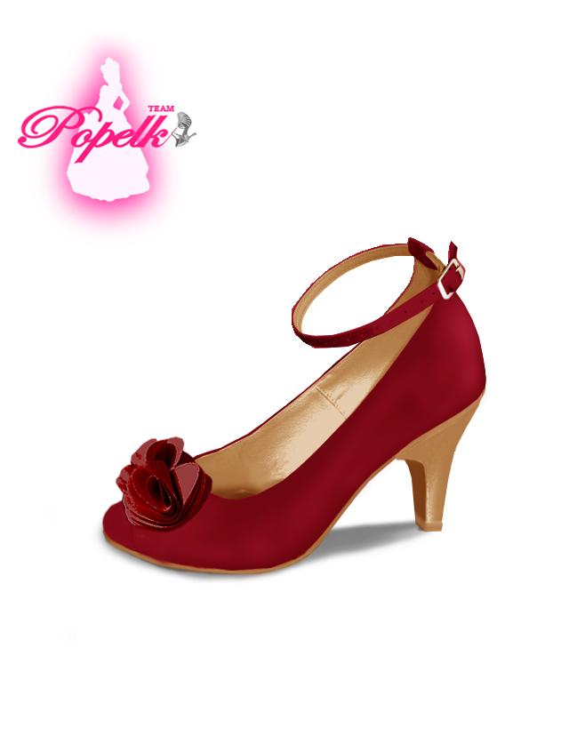 Svadobné topánky s úpravou na želanie - inšpirácie bordó, hnědá, čokoládová - Obrázok č. 42