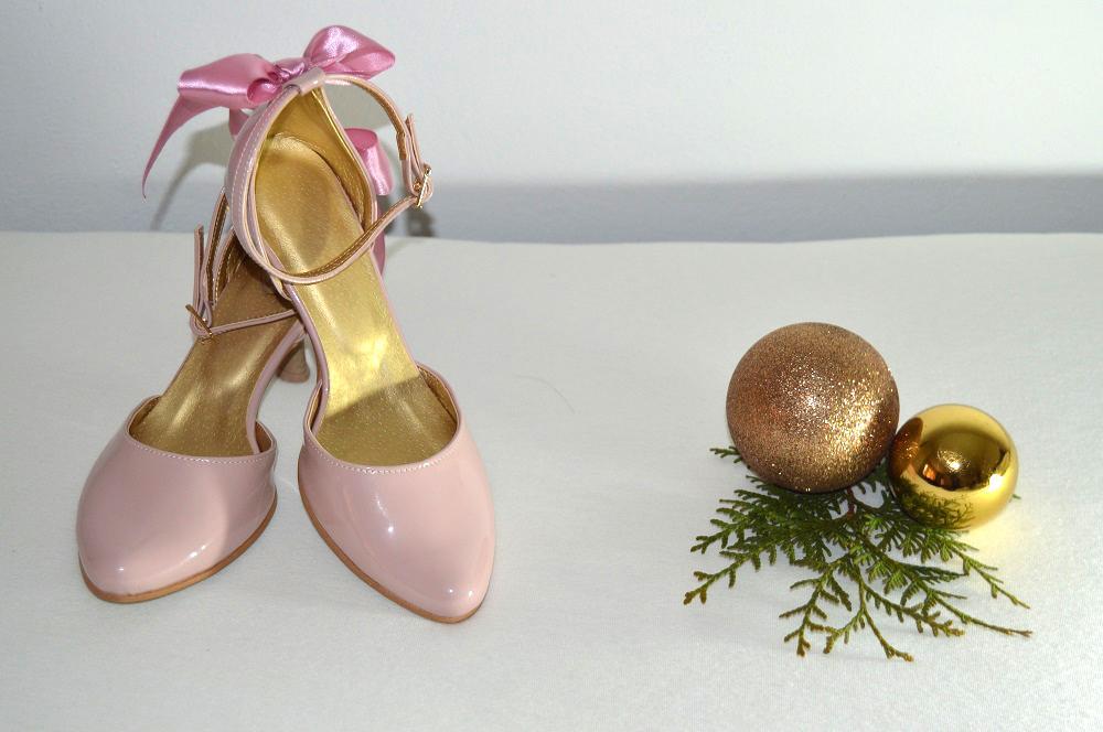Ružovopúdrové svadobné topánky K-styl - Obrázok č. 1