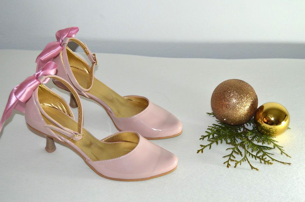 Ružovopúdrové svadobné topánky K-styl - Obrázok č. 2