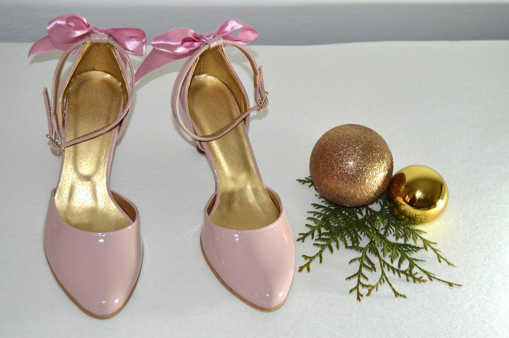 Ružovopúdrové svadobné topánky K-styl - Obrázok č. 3