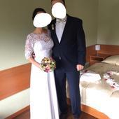 Svadobné šaty (krajka-šifón), 36