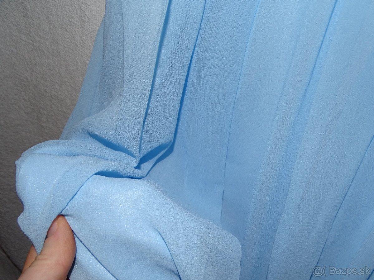 Spoločenské  slabomodré šaty 40 - Obrázok č. 1