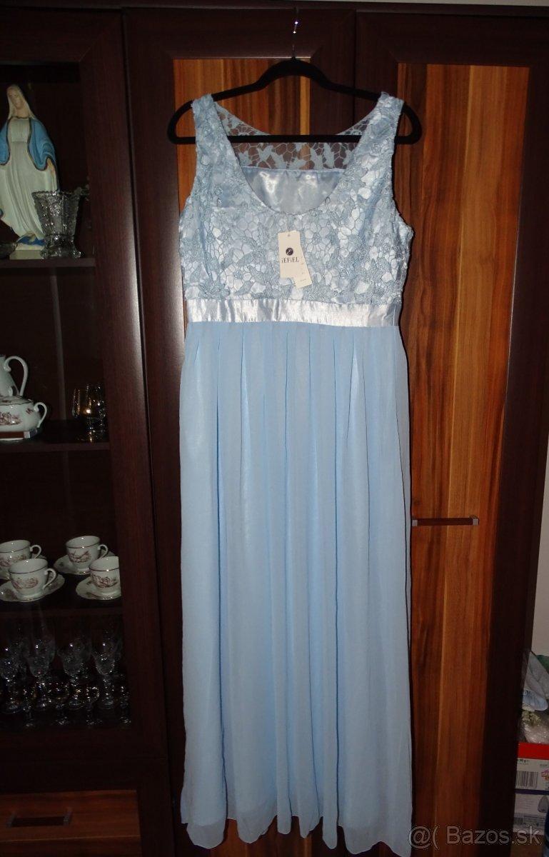 Spoločenské  slabomodré šaty 40 - Obrázok č. 2