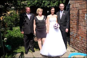 s rodiči a svědkem - bratrem