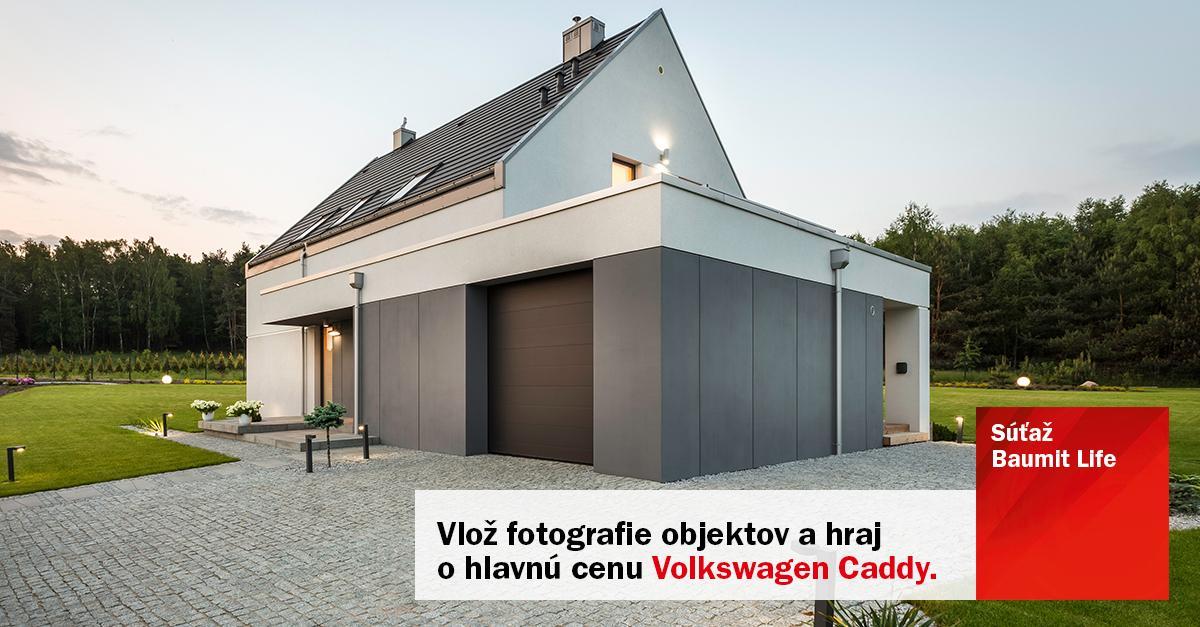Propaguj svoje fasády a vyhraj! - Robíš fasády s materiálmi Baumit? Propaguj svoje stavby.