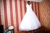 Svadobné šaty, bolerko, kabátik, závoj v. 36-38, 38