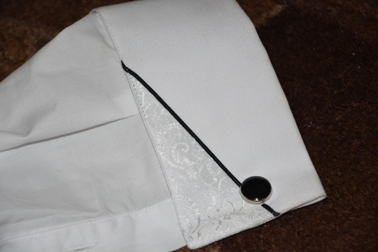 Svadobná košeľa + vreckovka - Obrázok č. 1