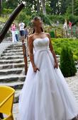 Biele svadobné šaty Atelier Diagonal, 39